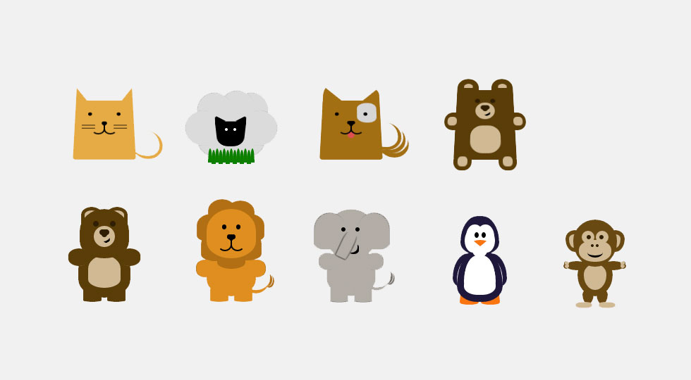 Picture of CSS animals demo