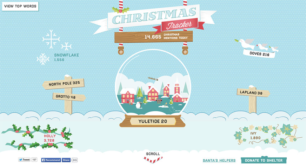 Image of the Christmas Tracker website